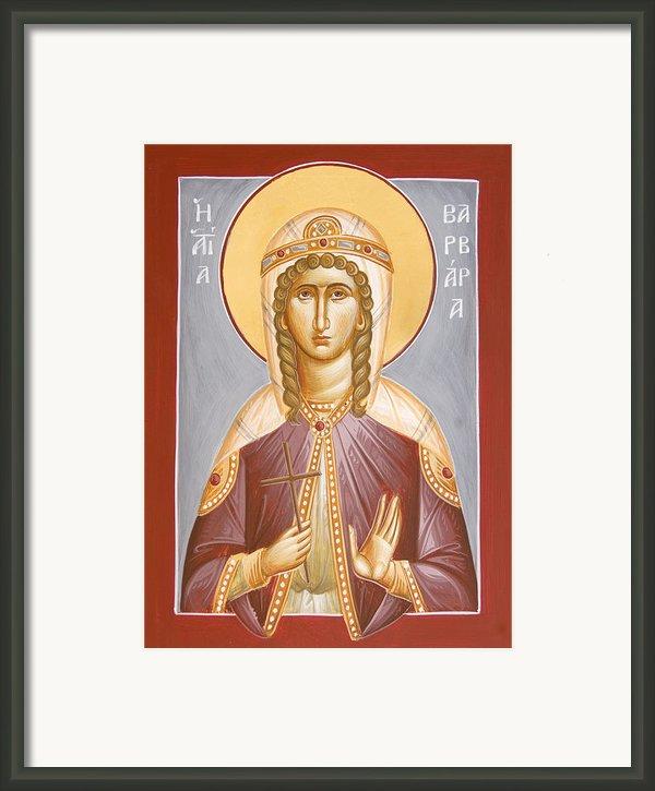 St Barbara Framed Print By Julia Bridget Hayes
