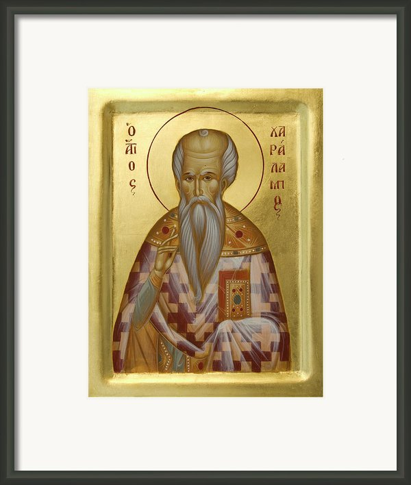 St Charalambos Framed Print By Julia Bridget Hayes