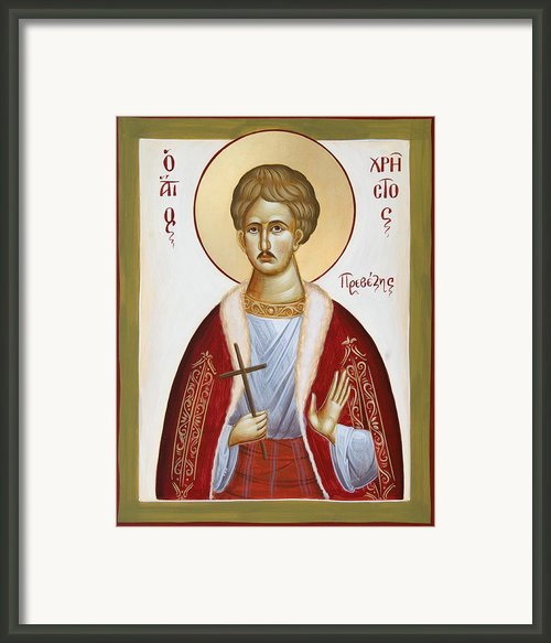 St Chrestos Of Preveza Framed Print By Julia Bridget Hayes