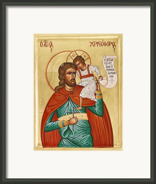 St Christopher Framed Print By Julia Bridget Hayes