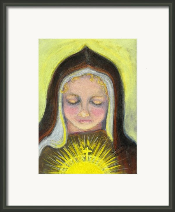 St. Clare Of Assisi All Aglow Framed Print By Susan  Clark