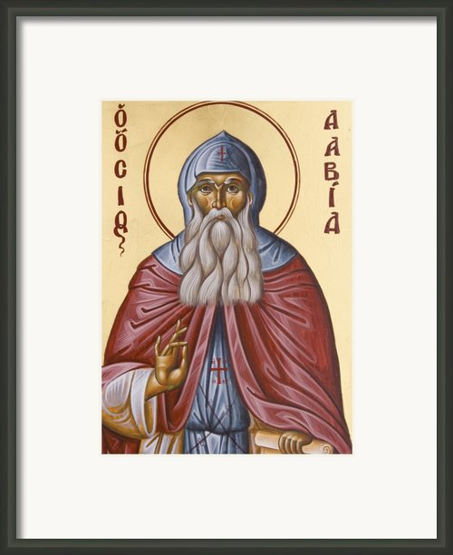 St David Of Evia Framed Print By Julia Bridget Hayes