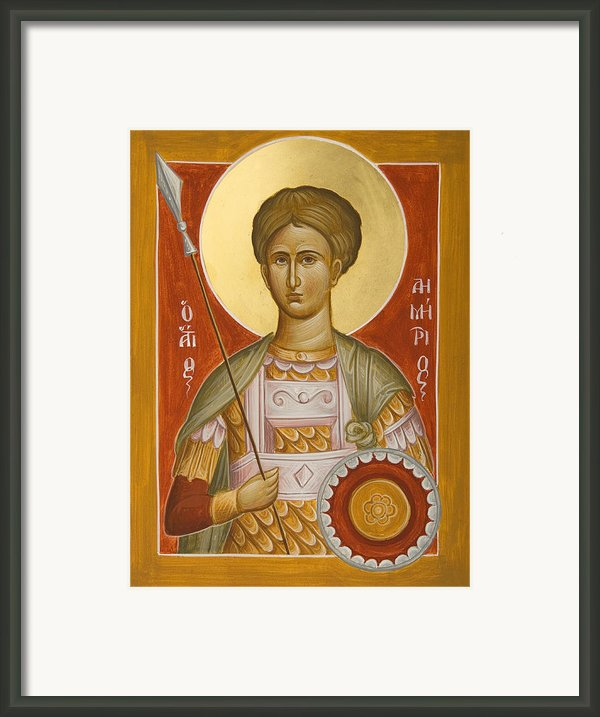St Demetrios The Myrrhstreamer Framed Print By Julia Bridget Hayes