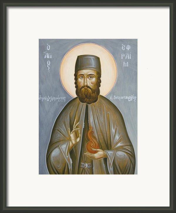 St Efraim Of Nea Makri Framed Print By Julia Bridget Hayes