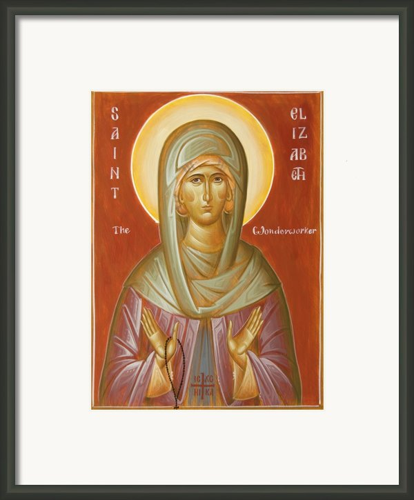 St Elizabeth The Wonderworker Framed Print By Julia Bridget Hayes