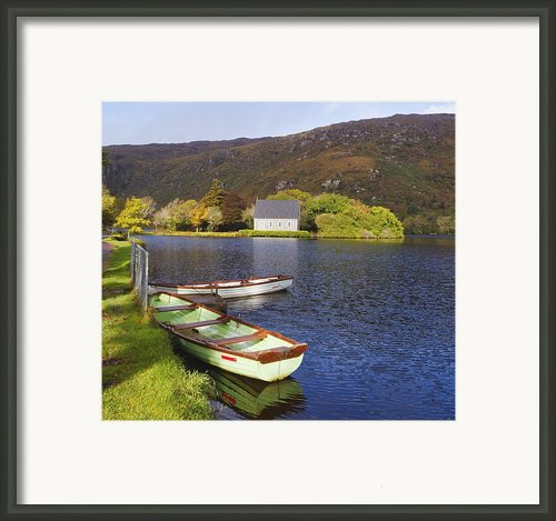St. Finbarres Oratory And Rowing Boats Framed Print By Ken Welsh