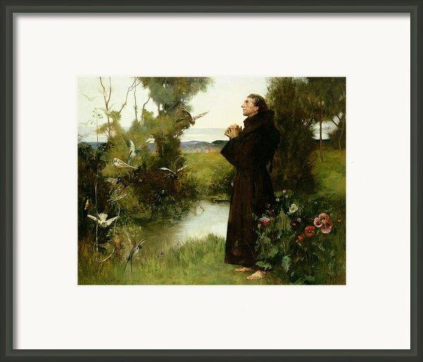 St. Francis Framed Print By Albert Chevallier Tayler
