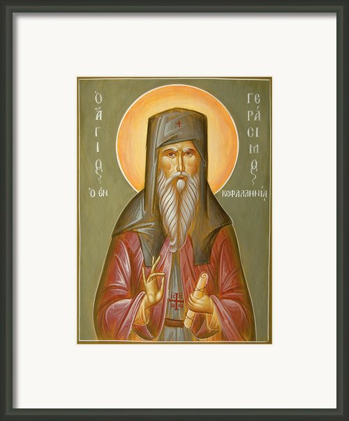 St Gerasimos Of Kefalonia Framed Print By Julia Bridget Hayes