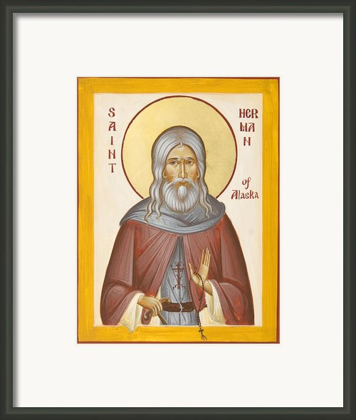 St Herman Of Alaska Framed Print By Julia Bridget Hayes