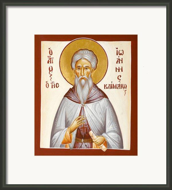 St John Climacus Framed Print By Julia Bridget Hayes