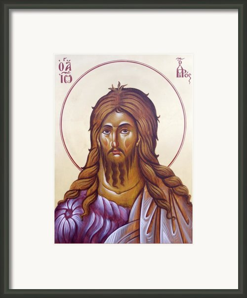 St John The Forerunner And Baptist Framed Print By Julia Bridget Hayes