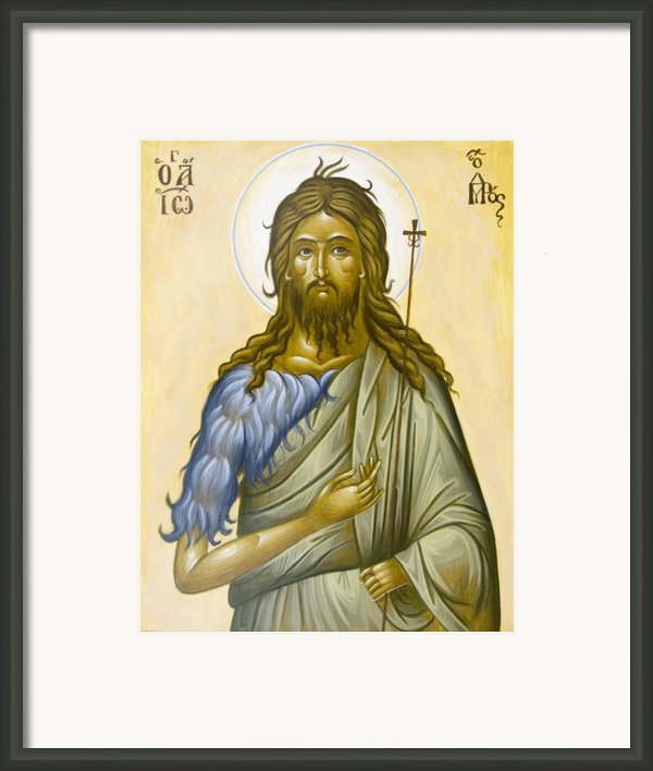 St John The Forerunner Framed Print By Julia Bridget Hayes