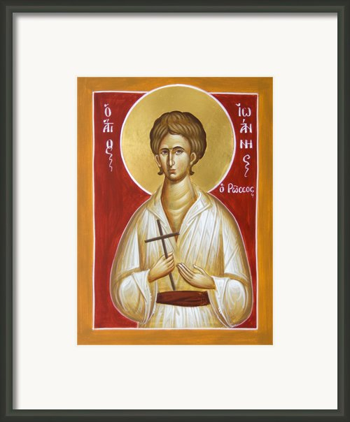 St John The Russian Framed Print By Julia Bridget Hayes