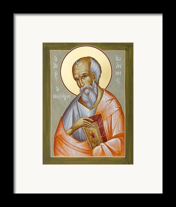 St John The Theologian Framed Print By Julia Bridget Hayes
