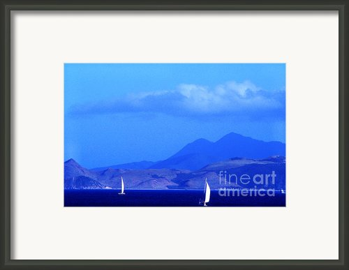St Kitts Sailing Framed Print By Thomas R Fletcher