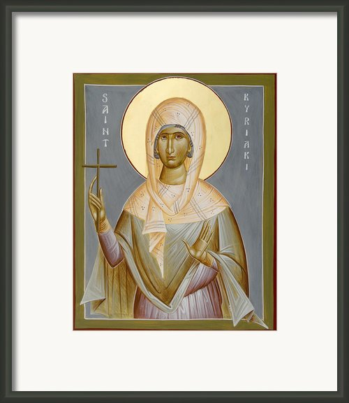 St Kyriaki Framed Print By Julia Bridget Hayes