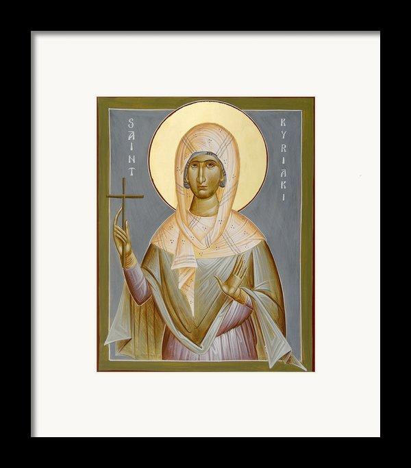 St Kyriaki Framed Print By Julia Bridget Hayes