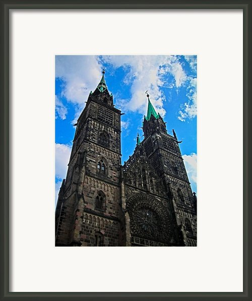 St. Lorenz Church - Nuremberg Framed Print By Juergen Weiss