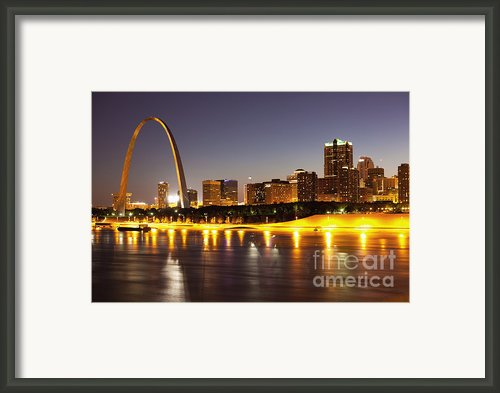 St Louis Skyline Framed Print By Bryan Mullennix