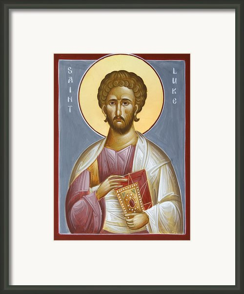 St Luke The Evangelist Framed Print By Julia Bridget Hayes