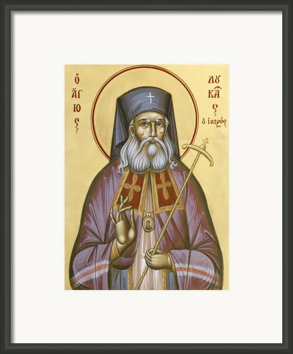 St Luke The Surgeon Of Simferopol Framed Print By Julia Bridget Hayes