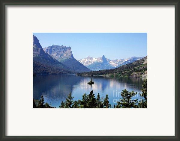 St Mary Lake - Glacier National Park Mt Framed Print By Christine Till