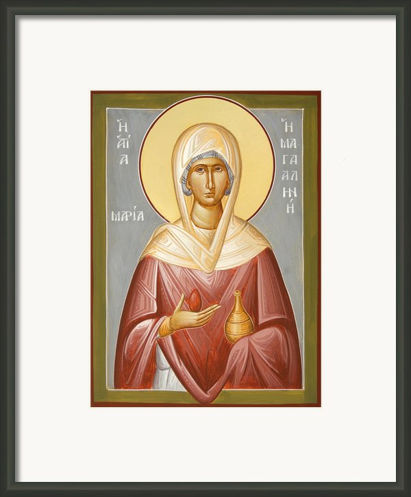 St Mary Magdalene Framed Print By Julia Bridget Hayes