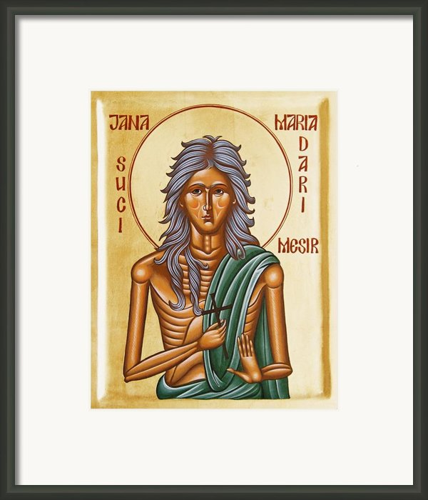 St Mary Of Egypt  Framed Print By Julia Bridget Hayes