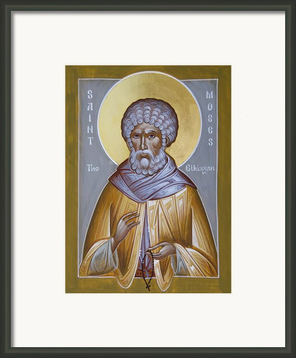 St Moses The Ethiopian Framed Print By Julia Bridget Hayes