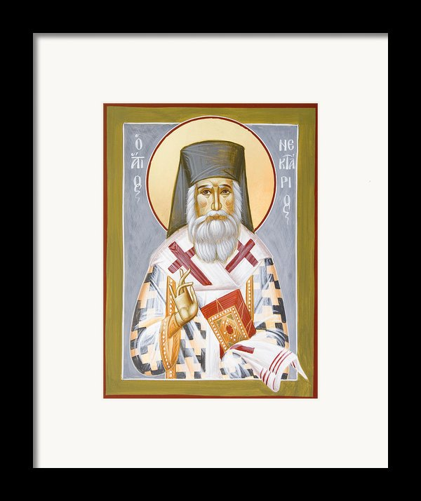 St Nektarios Framed Print By Julia Bridget Hayes