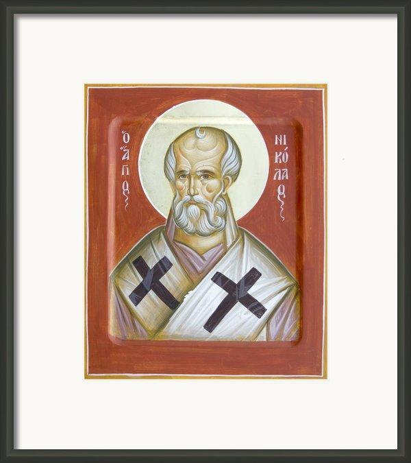 St Nicholas Of Myra Framed Print By Julia Bridget Hayes