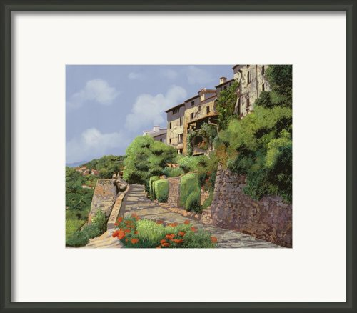 St Paul De Vence Framed Print By Guido Borelli
