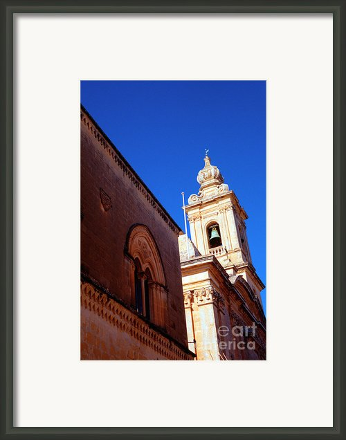 St Pauls Cathedral Mdina Malta Framed Print By Thomas R Fletcher