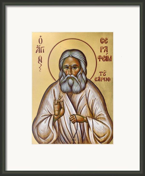 St Seraphim Of Sarov Framed Print By Julia Bridget Hayes