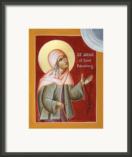 St Xenia Of St Petersburg Framed Print By Julia Bridget Hayes