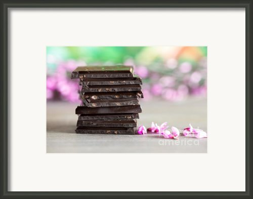 Stack Of Chocolate Framed Print By Nailia Schwarz