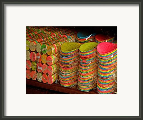 Stacks Of Sweets Framed Print By Olden Mexico