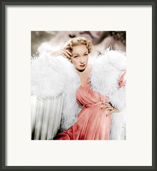 Stage Fright, Marlene Dietrich Wearing Framed Print By Everett