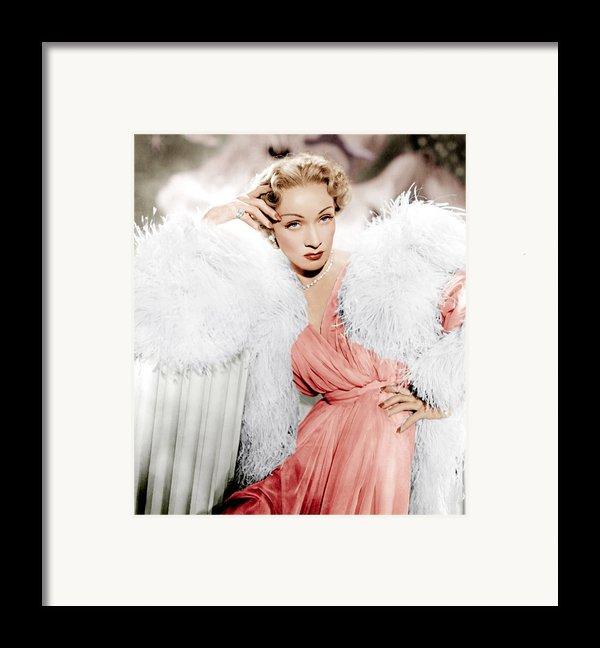 Stage Fright, Marlene Dietrich Wearing Framed Print By Everett
