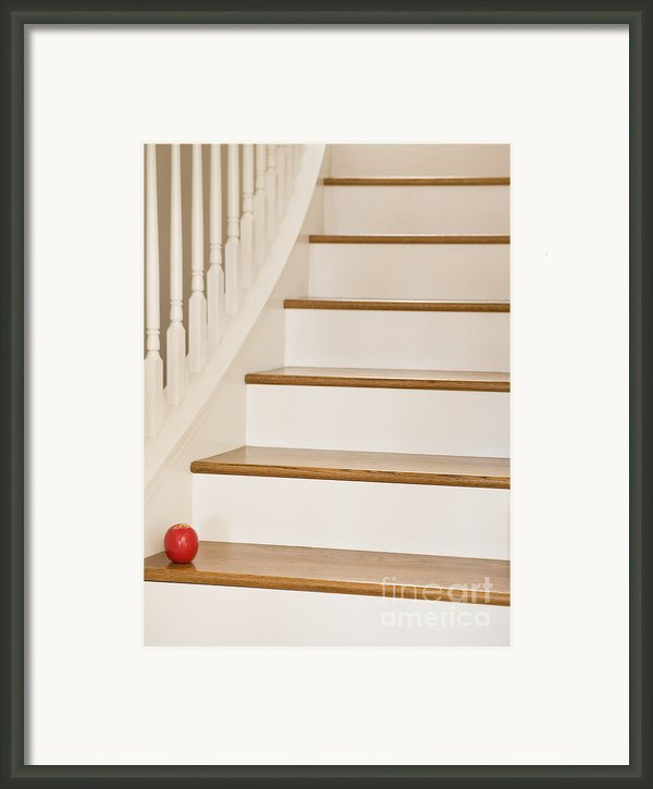 Stairs And Apple Framed Print By Andersen Ross