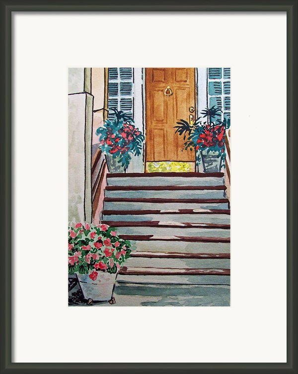 Stairs Sketchbook Project Down My Street Framed Print By Irina Sztukowski