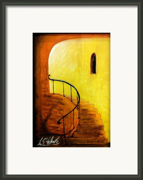 Stairwell Framed Print By Lee Halbrook