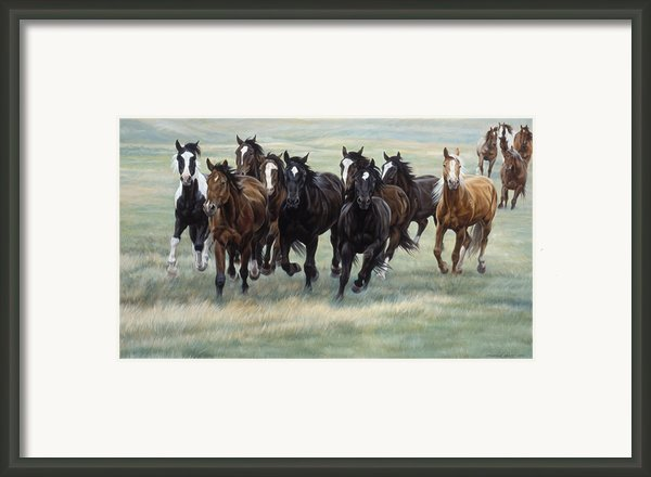 Stampede Framed Print By Jq Licensing