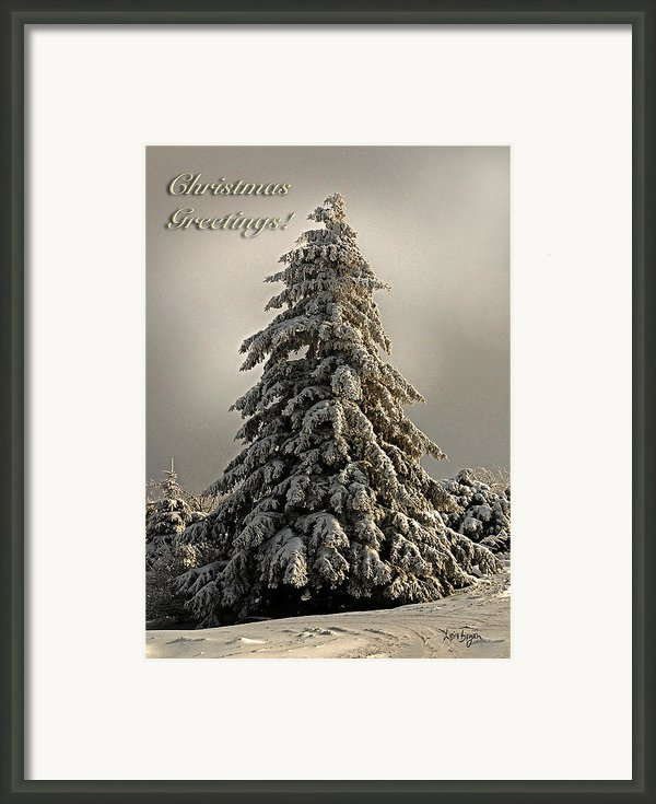 Standing Tall Christmas Card Framed Print By Lois Bryan