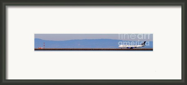 Star Alliance Airlines Jet Airplane At San Francisco International Airport Sfo . 7d12208 . Pano Cut Framed Print By Wingsdomain Art And Photography