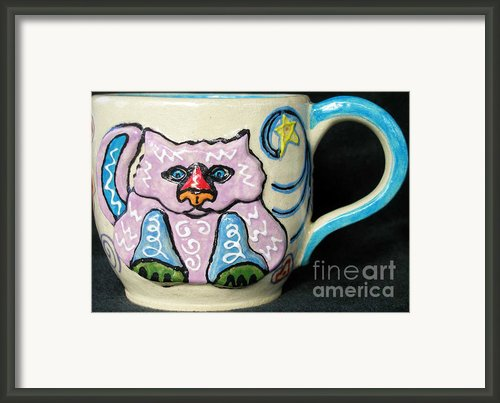 Star Kitty Mug Framed Print By Joyce Jackson