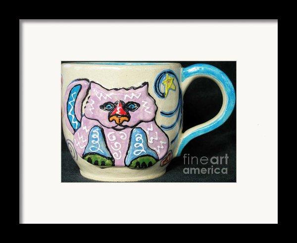 Star Kitty Mug Framed Print By Joyce Jackson