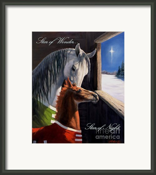 Star Of Wonder Framed Print By Jeanne Newton Schoborg