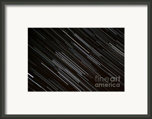Star Trails At The Equator Framed Print By Stephen Whisman