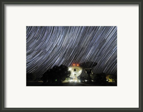 Star Trails Over Parkes Observatory Framed Print By Alex Cherney, Terrastro.com